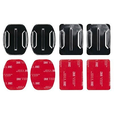 3M Adhesive Mounts fits for GoPro Hero Flat Curved Base Helmet Mount