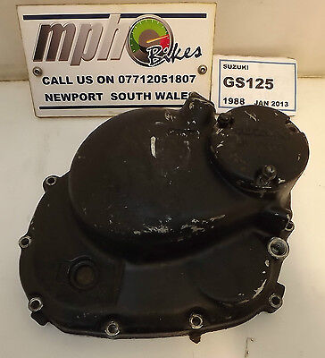 Suzuki Gs125 1988 Clutch Cover With Oil Filter Cover In Good Condition