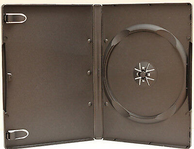 100 Standard Black Single CD DVD Case 14MM Movie Box