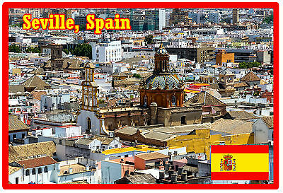 Seville, Spain - Souvenir Jumbo Fridge Magnet - Brand New - Gift