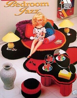 Crochet Fashion Doll Home Decor Sweetheart Bedroom  Patterns Original By Annie