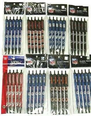 NFL Official Licensed Click pens 5-Pack All Teams