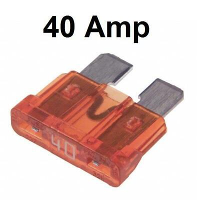 Car Electrical 50 Standard Blade Fuses 40 Amp New Fix with Long Fuse Puller