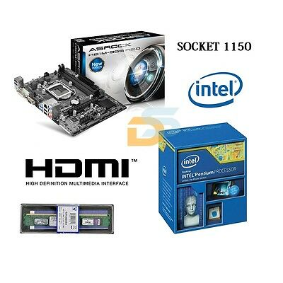 SCHEDA MADRE SOCKET 1150 H81M-DGS R2.0 + CPU INTEL G3240 3.10 GHz + RAM 8GB DDR3