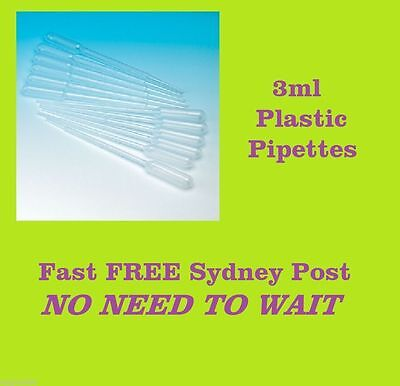 3ml Plastic Pipettes Dropper Candle Soap Paint Airbrush Dye  *  FREE Sydney Post