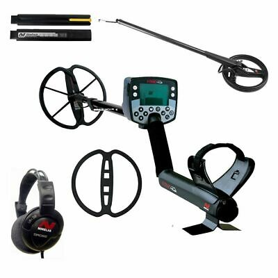 """Minelab E-Trac Metal Detector with 8"""" and 11"""" Search Coils, Headphones and Cover"""