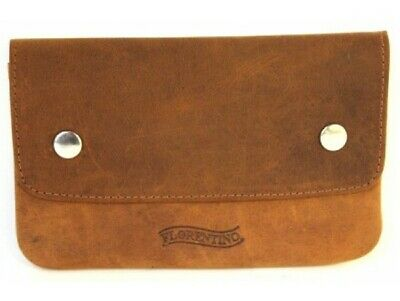 Quality Full Grain Cow Hide Nubuck Leather Tobacco Pouch. Dark Brown Style:12013