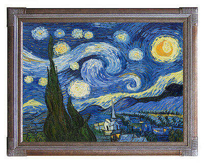 Starry Night Van Gogh Fine Art Poster Print in Canvas or Paper Card