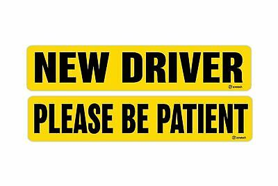 Zone Tech New Driver  Please Be Patient Magnets Reflective Vehicle Car Signs