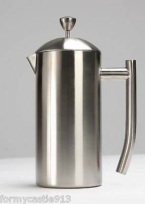 Frieling 0144 French Coffee Press 18/10 Stainless Steel 8 Cup 4 US cups 36 oz