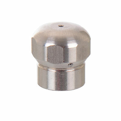 """Drain Cleaning Nozzle 1/8"""" for Pressure Washer Hose 3 rear+1 forward"""