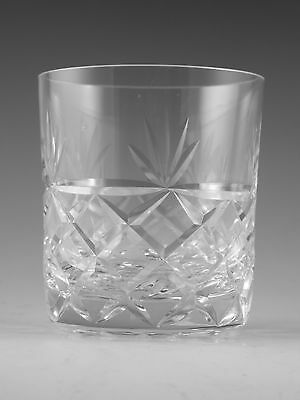 "Royal BRIERLEY Crystal - BRUCE Cut - Whisky Tumbler Glass / Glasses - 3 1/4"" 2nd"