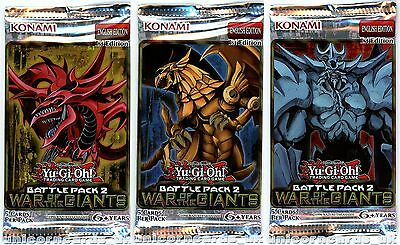 Battle Pack 2: War of the Giants 1st Edition Sealed YuGiOh Booster Packs x3