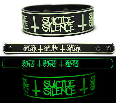 SUICIDE SILENCE Rubber Bracelet Wristband The Black Crown Glows in the Dark