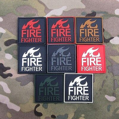 Fire Fighter Rescue Tactical Morale Military 3D PVC Patch