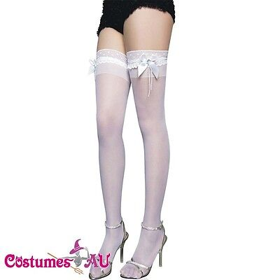 Lingerie Hosiery white wedding thigh high Stockings costume accessories