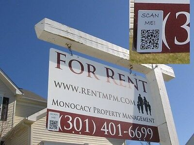Magnetic QR Code for Real Estate Signs (2pk)