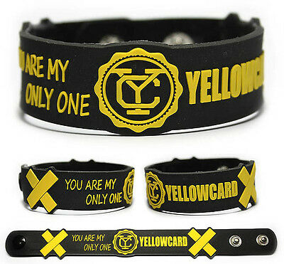 YELLOWCARD Rubber Bracelet Wristband Southern Air Ocean Avenue Acoustic