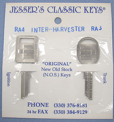 Very Rare Orignal IH Keys NOS New Old Stock Scout Travelall Pickup International