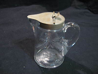 Heisey Sanitary Syrup with Deep Etching - Elegant Glass - Marked Diamond H