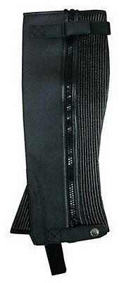 New Ladies Mens Black Washable Amara Suede Horse Riding Half Chaps Gaiter 5 Size