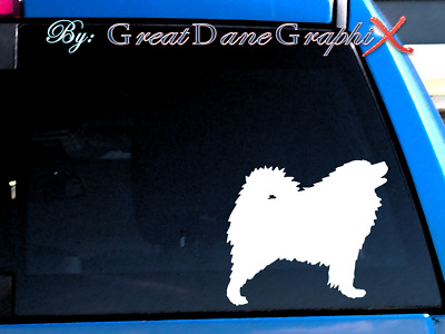 Samoyed #2 Vinyl Decal Sticker / Color Choice - HIGH QUALITY