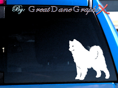 Samoyed #1 Vinyl Decal Sticker / Color Choice - HIGH QUALITY