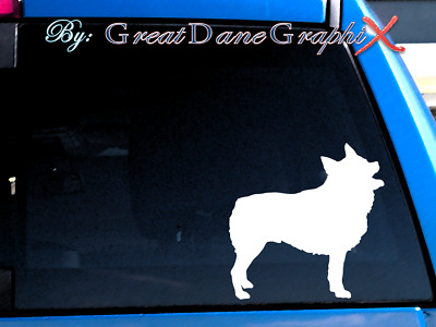 Schipperke #2 Vinyl Decal Sticker / Color Choice - HIGH QUALITY