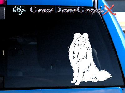 Sheltie / Shetland Sheepdog  Vinyl Decal Sticker / Color Choice - HIGH QUALITY