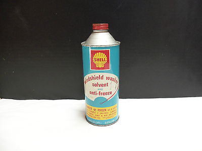Vintage Shell Windshield Wahser Solvent Tin Can 16 Oz  Nice!!