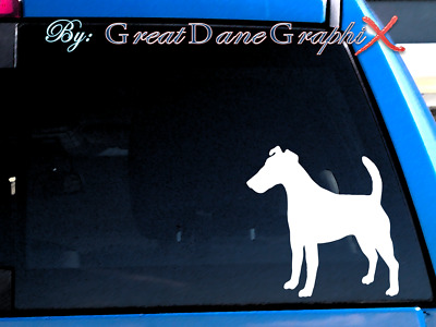 Smooth Fox Terrier #2 Vinyl Decal Sticker / Color Choice - HIGH QUALITY