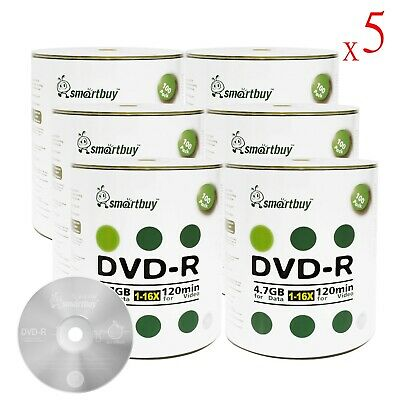 3000 Pcs SmartBuy Blank DVD-R DVDR 16X 4.7GB Logo Top Surface Recordable Disc
