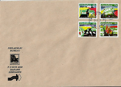Zimbabwe 2012 FDC Traffic Safety 4v Set Cover Cars Motoring Drunk Driving Speed