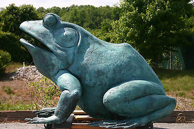 FROG BRONZE GIANT USA BULL FROG legs FOUNTAIN SCULPTURE  bullfrog Retile ART