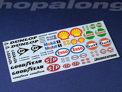 Scalextric/Slot Car 1/32 Scale Waterslide Decals. ws003