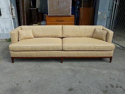 CHIC MID CENTURY TUXEDO EVEN ARM SOFA BY ROBSJOHN GIBBINGS FOR WIDDICOMB