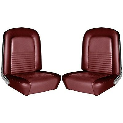 1968 68 Mustang Coupe Front Rear Upholstery Dark Red TMI In Stock Free Ship