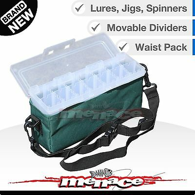 Panaro Spinner Bait Fishing Tackle Box w/ Shoulder Waist Strap for Lures & Jigs