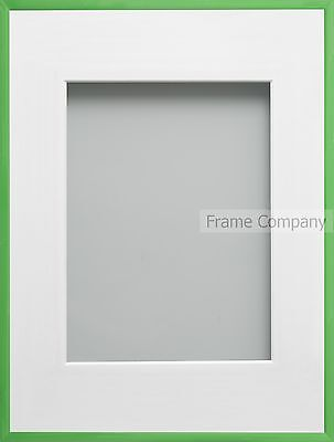 Frame Company Cranbrook Range Green or Yellow Picture Photo  Frames With Mount