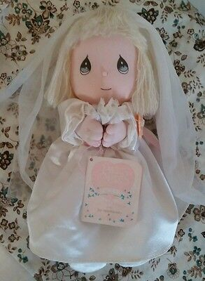 "1990 Precious Moments Doll Of The Month JUNE Plush w/Tags 11"" Applause  BRIDE"