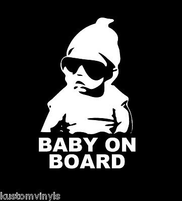 Funny hangover BABY ON BOARD Family vinyl window car truck decal
