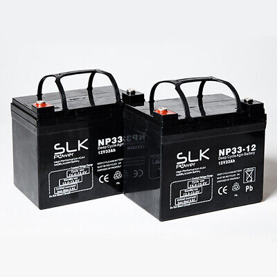 PAIR 12v 10ah 12 17 24 33 36 40 50 55 75AH MOBILITY SCOOTER WHEELCHAIR BATTERIES