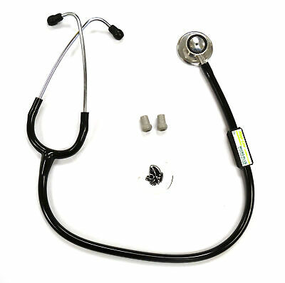 Stainless Steel Micro Plus Stethoscope, wth Spare Ear Tips and Diaphragm