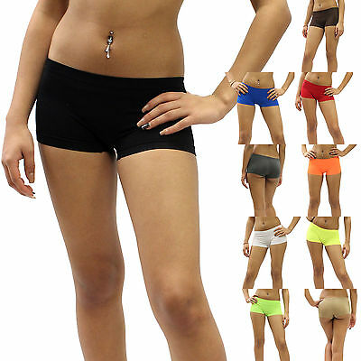 New Short Boy Cut Spankies Dance Exercise Spandex Yoga Tights One Size TNS06-03