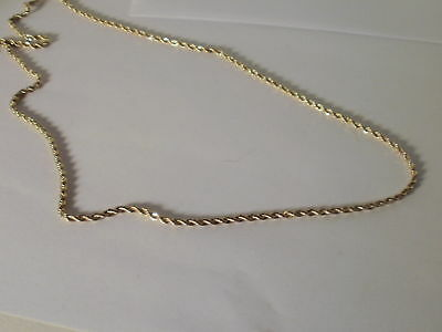 14k Yellow Gold Plated Rope Necklace chain 2 MM 16-36 IN lifetime warranty