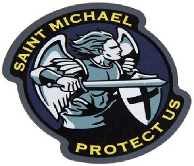 Saint Michael Protect Tactical Morale Military Car Vehicle Window Decal Sticker