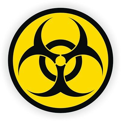 Biohazard Symbol Hard Hat Sticker / Helmet Label Decal Zombie CDC Disease Virus