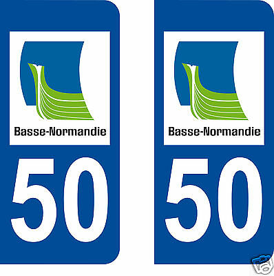 STICKERS AUTOCOLLANTS DEPARTEMENT 50 PLAQUE D IMMATRICULATION AUTO normandie