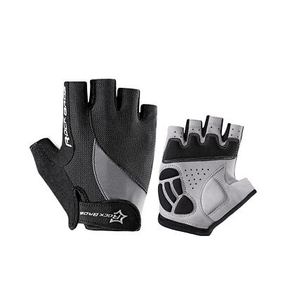 RockBros Bike Cycling Half Short Finger Gloves Sport Gloves Black