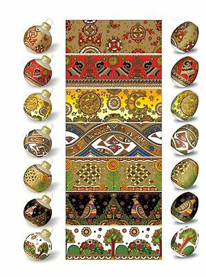 Ukrainian Easter Egg Wraps,Pysanka,Pysanky Egg Heat Shrink Sleeves,7 Hen SizeS9